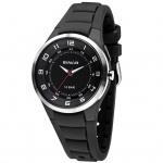 SINAR Uhr Silikon schwarz