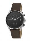 Esprit ES1G098L0015 Lock Chrono Uhr Herrenuhr Lederarmband Datum Braun