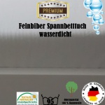 Feinbiber Spannbettlaken Matratzenschoner Wasserdicht 70x140