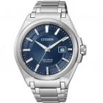 Citizen BM6930-57M Eco Drive Uhr Herrenuhr Titan Datum blau