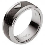 Emporio Armani EGS1602 Herren Ring Edelstahl Carbon 60 (19.1)