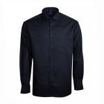 Eterna Herrenhemd Langarm Comfort Fit Schwarz XL/43 Hemd 8697/39/E187