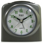 W&S 02028 Wecker Uhr grau-weiß Analog Licht Alarm