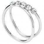 Fossil JF02740040505 Damen Ring Edelstahl Silber Weiß 53 (16.9)