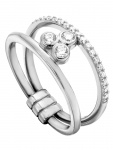 Esprit ESRG00191118 Damen Ring PlaySilber Weiß 57 (18.1)