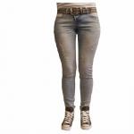 Damen Jeans Hose 5 Pocket Rock Angel Slim Fit Hellblau Gr. XL