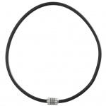 GOOIX 414-06285 Herren Kette Edelstahl Silber Schwarz 50 cm