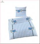 IDO 6294-24 Renforcé Bettwäsche 2tlg. Landliebe Blau 135x200 cm