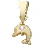 Basic Gold TG27 Kinder Anhänger Delfin 14 Karat (585) Gelbgold