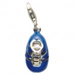 Basic Silber 22.VX155 Damen Charms Schuh Silber blau schwarz