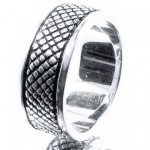 Fossil JF82384 Herren Ring JF 82384 Stahl Größe 60 (19, 0 mm)