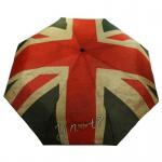 Y Not 55571 Easymatic Light Flagge UK Rot-Beige Taschenschirm