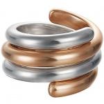 Esprit ESSE90969B Damen Ring swiveled bicolor rose Silber 50 (15.9)