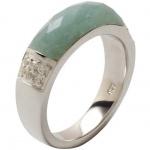 Fossil JF16472 Damen Ring 925 Sterling Silber Grün-blau 53 (16.9)
