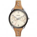 Fossil ES4175 Uhr Damenuhr Lederarmband Datum braun