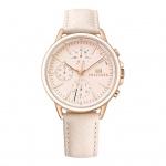 Tommy Hilfiger 1781789 Carly Uhr Damenuhr Lederarmband Datum Rosa