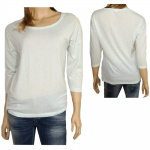 Only Damen Shirt 3/4 Arm 15098814 Hella 3/4 O-Neck Top ESS Blau L
