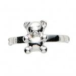 Basic Silber 53.KS106 Mädchen Ring Teddybär Silber 48 (15.3)