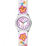 JACQUES FAREL HCC3133 Elfensternchen Mädchen Kinder Uhr Textil