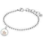 XENOX X6309 Damen Armband Stern Sky Light Bicolor Rose Weiß 18, 5 cm