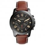 Fossil FS5241 GRANT Chronograph Uhr Herrenuhr Leder Chrono braun