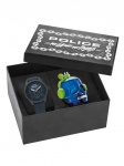 POLICE PL.15397JSU/80 MYSTIC BOX Uhr Herrenuhr Lederarmband Blau