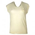 Vero Moda Damen T-Shirt Shirt FLORY S/S Top Blue Beige Gr. M