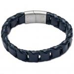GOOIX 414-05760 Herren Armband Edelstahl Silber Blau 21 cm