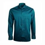 Eterna Herren Hemd Langarm Modern Fit Blau L/42 Hemden 8101/67/X187