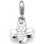 Basic Silber 22.VX295 Charms Damen Charm Silber Biene