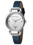 Esprit ES1L023L0015 Play Silver Blue SET Damenuhr Lederarmband Blau
