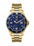 Ice-Watch 016761 ICE steel Gold blue Medium Uhr Damenuhr Datum Gold