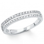 s.Oliver 2015090 Damen Ring Sterling-Silber 925 Silber Weiß 56 (17.8)