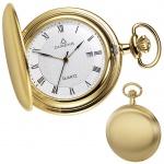 DUGENA 4288033 Taschenuhr Savonette mit Kette Uhr Herrenuhr gold