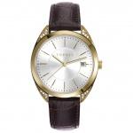 Esprit esprit tp-10897 brown Uhr Damenuhr Lederarmband Datum braun
