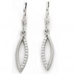 Basic Silber 02.1131 Damen Ohrringe Silber Zirkonia weiß