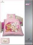 Dobnig Kinder Renforcé Bettwäsche 2tlg. NICI Bären Rosa 100x135 cm