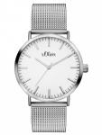 s.Oliver SO-3145-MQ Uhr Damenuhr Edelstahl Silber