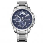Tommy Hilfiger 1791348 Decker Uhr Herrenuhr Edelstahl Datum Silber