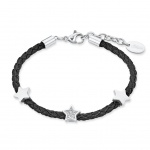 s.Oliver 2018515 Mädchen Armband Sterne Edelstahl Silber Weiß 16 cm