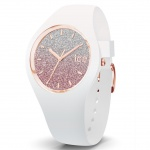 Ice-Watch 013427 Ice-Lo White pink small Uhr Damenuhr Silikon Weiß