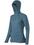 Mammut Fleece Übergangs Jacke Damen Get Away Hooded Jacket Blau Grau L