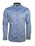Eterna Herren Hemd Langarm Slim Fit Hemden 8888/16/F140 Blau M/40