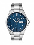 Hugo Boss 1513533 Thejs Uhr Herrenuhr Edelstahl Datum Silber