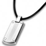 LOTUS LS1730/1/1 Herren Collier Edelstahl Silber schwarz 50 cm