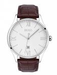 Hugo Boss 1513555 Govnr Uhr Herrenuhr Lederarmband Datum Braun
