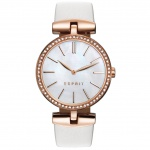 Esprit esprit tp-10911 white Uhr Damenuhr Lederarmband weiß