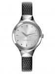 Esprit ES109492001 BLACK Uhr Damenuhr Lederarmband Schwarz