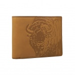 Fossil Geldbörse Luke RFID Large Pocket Braun Büffelmotiv Herren Börse