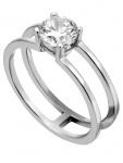 Esprit ESRG00101118 Damen Ring Lillian Silber Weiß 57 (18.1)
